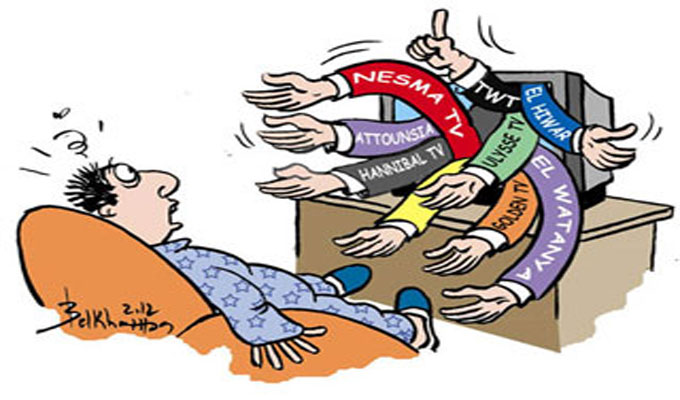 guerre-tv-caricature-medias-belkhamsa-tunisie