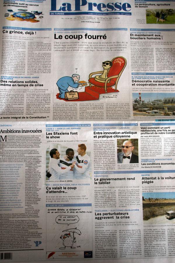 Revue de presse du 03-02-2014