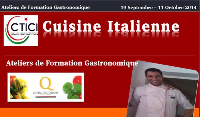 Tunisie atelier de gastronomie italienne directinfo for Formation cuisine gastronomique