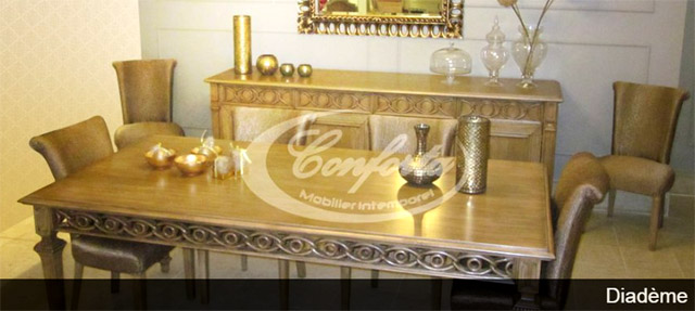 Conforta expose au salon du meuble de tunis directinfo for Salle a manger kelibia