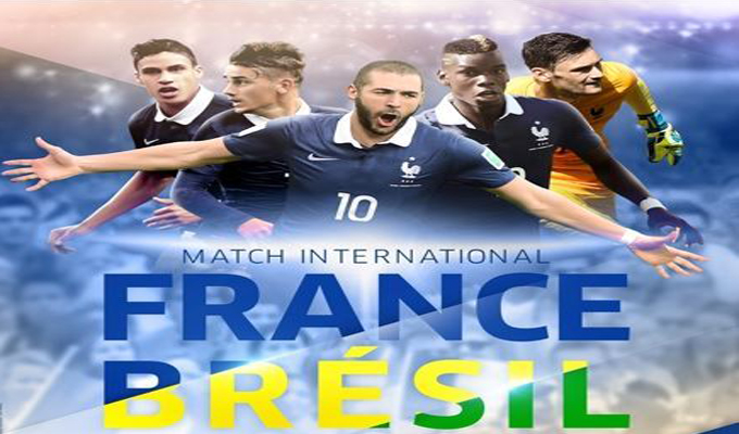 match amical france vs br sil liens streaming directinfo. Black Bedroom Furniture Sets. Home Design Ideas