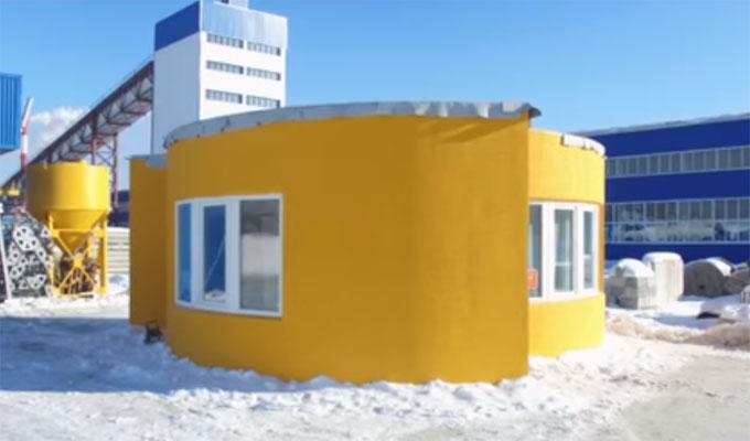 chantier 2 0 construction d 39 une maison avec une imprimante 3d directinfo. Black Bedroom Furniture Sets. Home Design Ideas